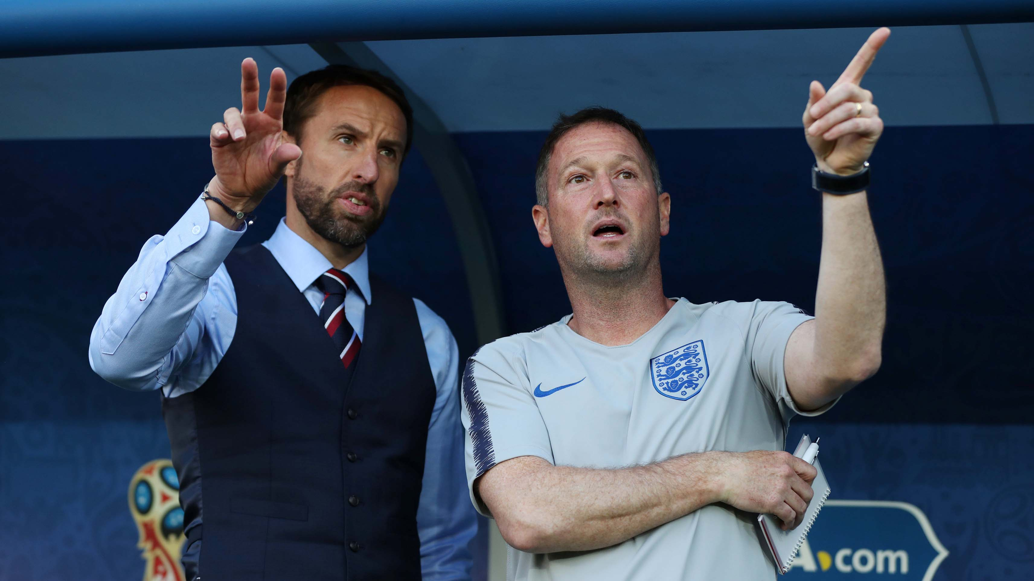 Gareth Southgate and assistant manager Steve Holland 1280.jpg