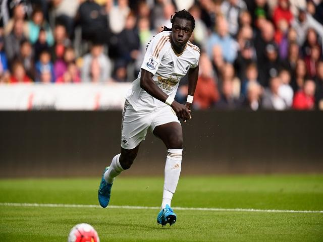 Bafetimbi Gomis will run in behind the Stoke defence