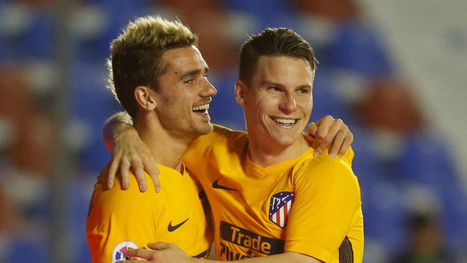 Antoine Griezmann (left) of Atletico Madrid.