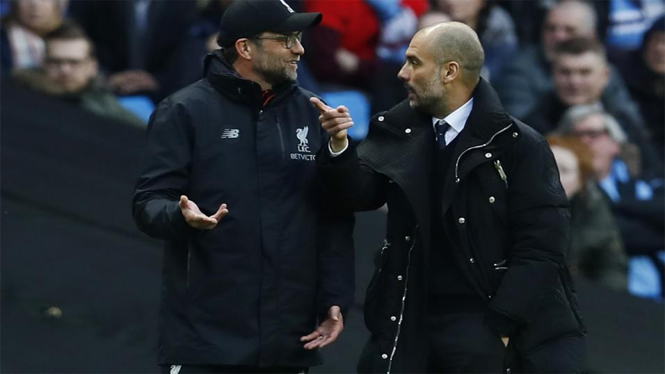 Image result for pep and klopp anfield