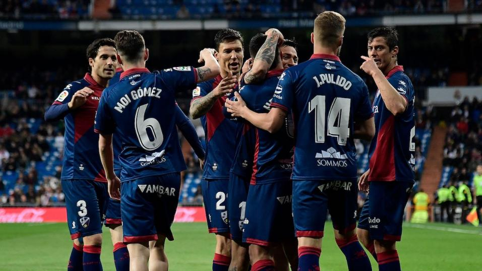 Huesca players celebrate