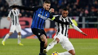 Mauro Icardi of Inter and Juventus defender Medhi Benatia