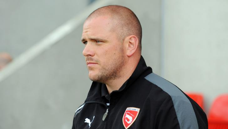 Jim Bentley, the Morecambe manager