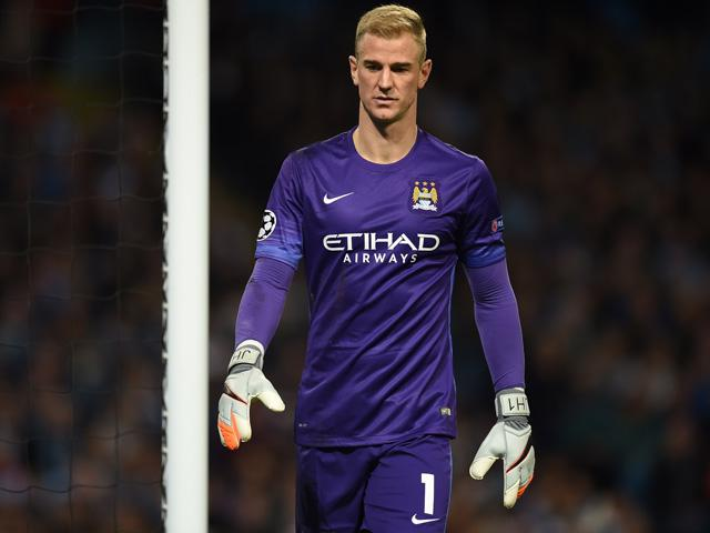 Joe Hart was part of the Man City defence which kept an overdue clean sheet against Everton