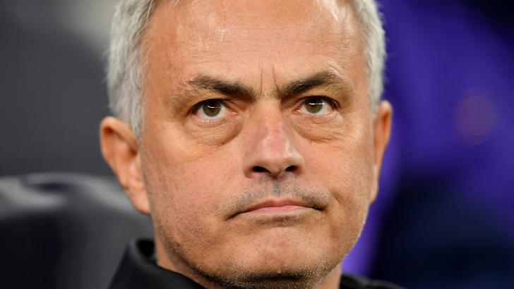 Jose Mourinho looks disappointed