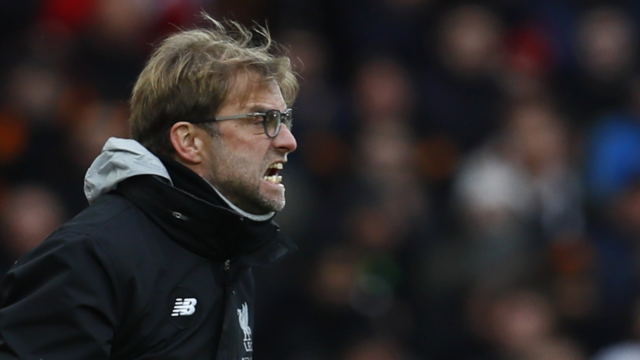 Jurgen Klopp watches on as Liverpool compete in the FA Cup.JPG