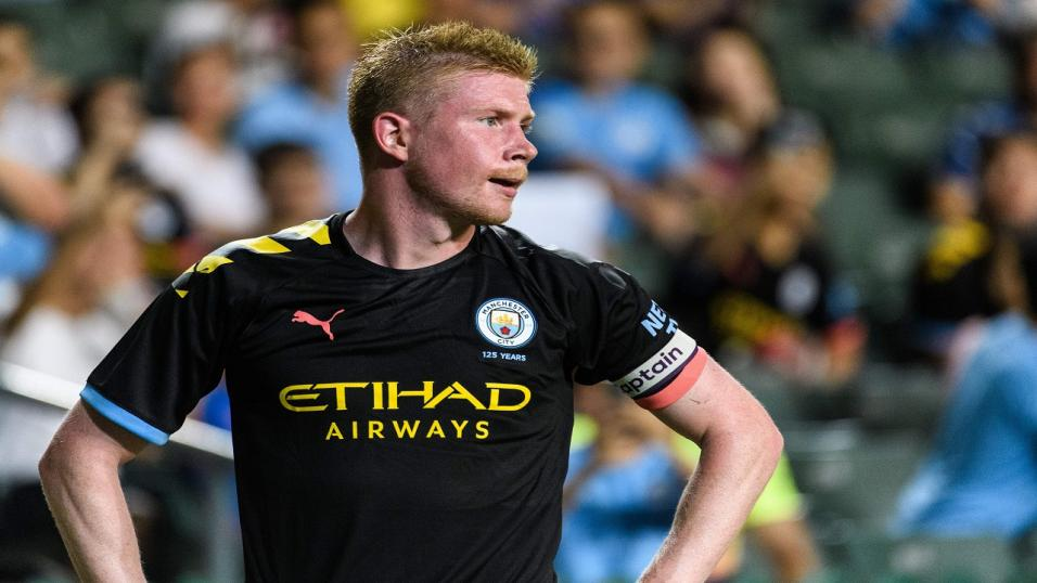 Kevin De Bruyne playing for Man City