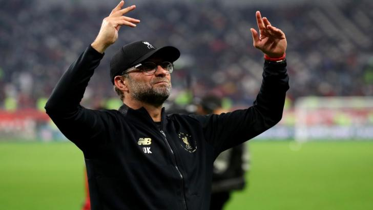 Liverpool boss Jurgen Klopp celebrates