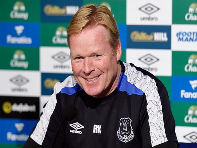 Will Ronald Koeman still be smiling after Everton's match with West Ham?
