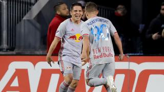 NYRB players Connor Lade and Marc Rzatkowski