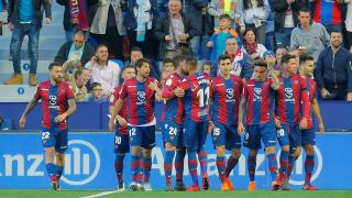 Levante celebrate against Barcelona