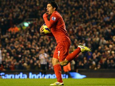 Luis Suarez scored a stunning hat-trick on Saturday