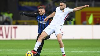 Roma defender Kostas Manolas and Inter striker Mauro Icardi