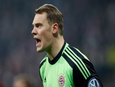 Bayern keeper Manuel Neuer has kept eight straight clean sheets