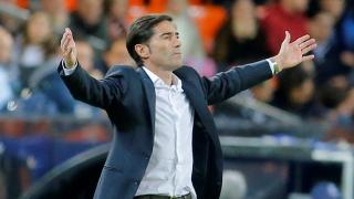 Valencia manager Marcelino appeals for a decision