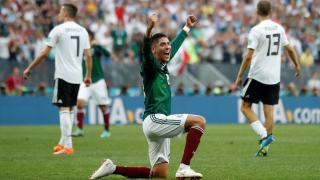 Mexico celebrate against Germany.
