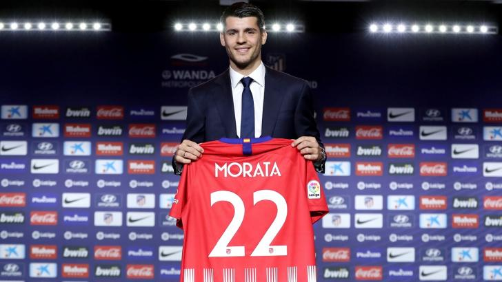 Atletico Madrid striker Alvaro Morata.