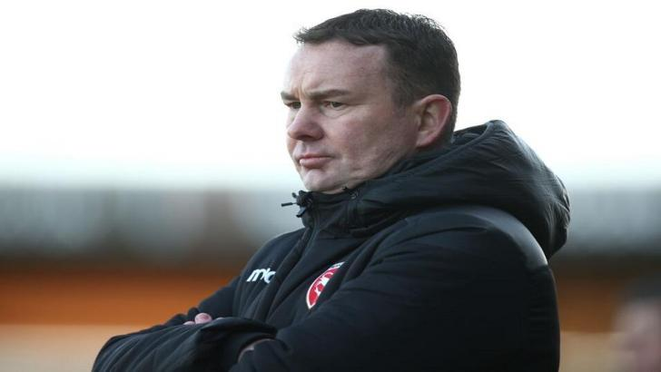 Derek Adams, the Morecambe manager