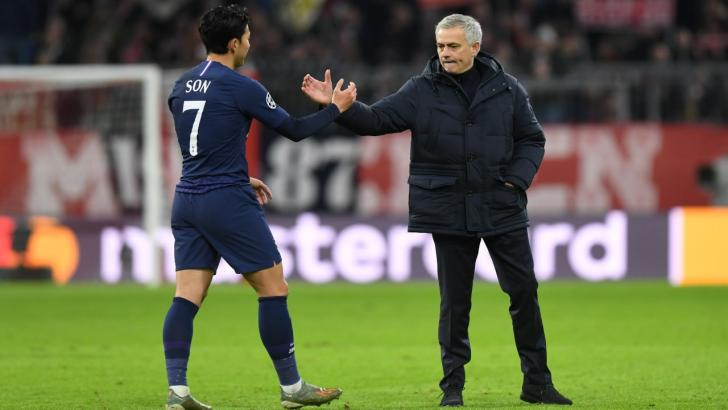 Son and Jose Mourinho