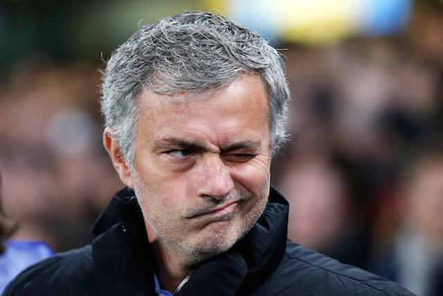 The eyes have it: Jose Mourinho is unbeaten against Arsene Wenger