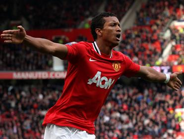 Nani scored United's fifth in their 0-5 stroll in Germany