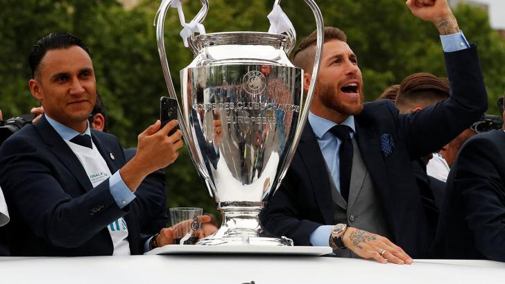 sergio ramos celebrating