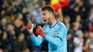 Valencia goalkeeper Neto celebrates