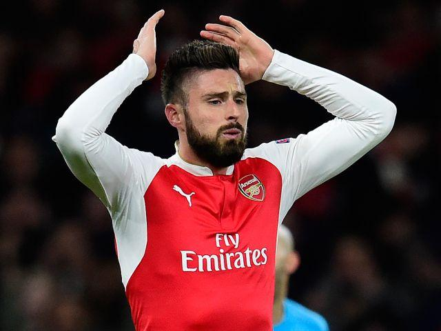 An Arsenal reshuffle may give Olivier Giroud the chance to shine