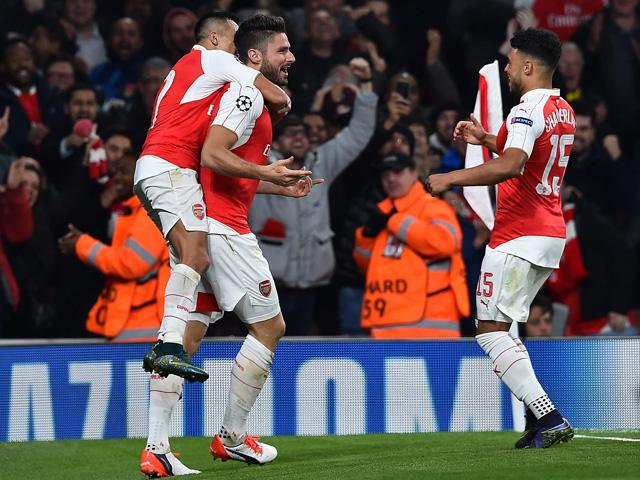 Olivier Giroud has significantly increased Arsenal's chances of Champions League progress
