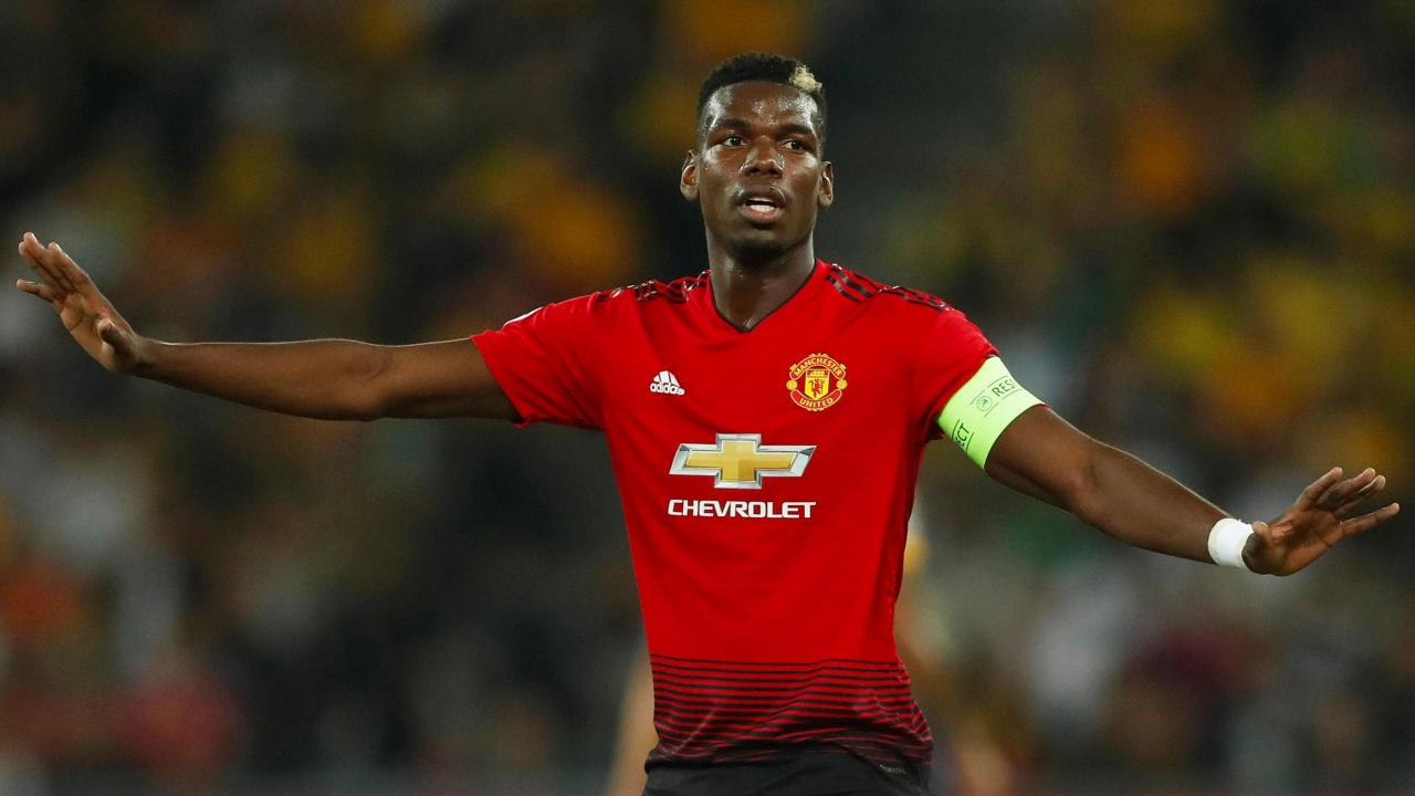 Man Utd midfielder Paul Pogba