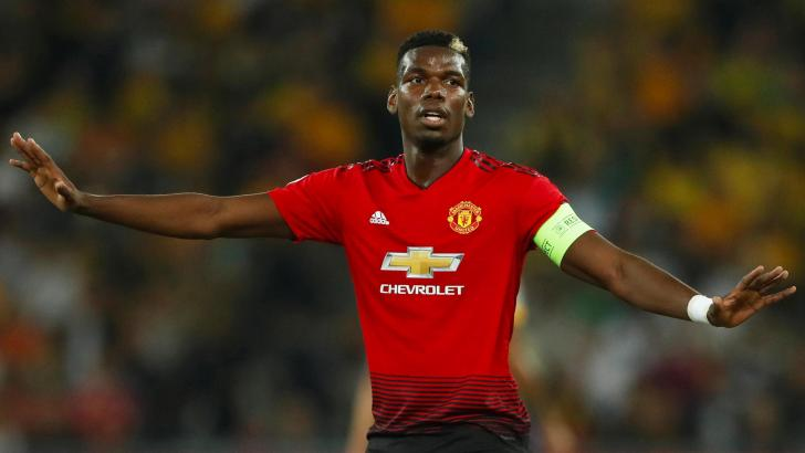 United midfielder Paul Pogba