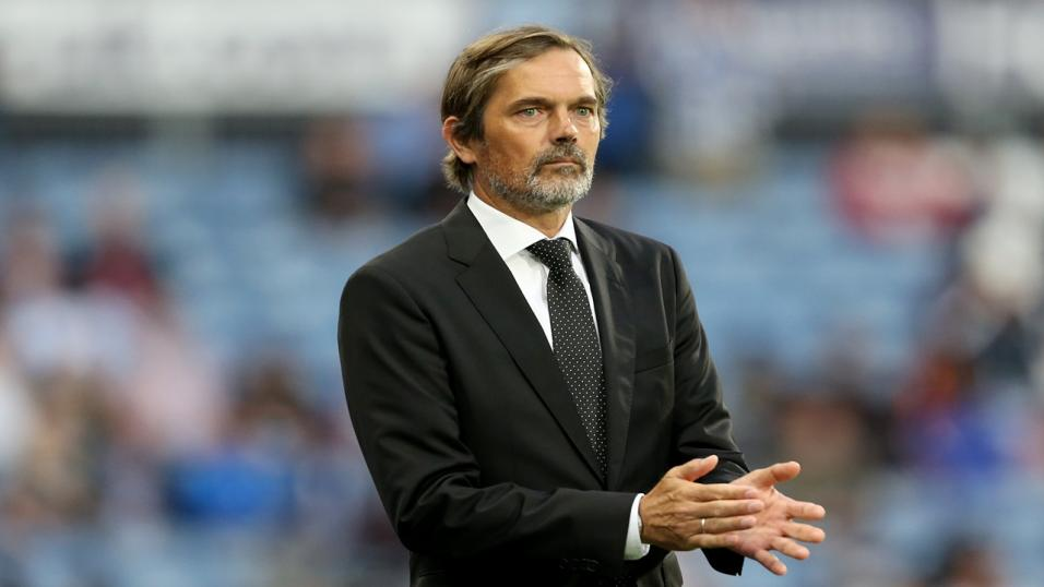 Derby manager Phillip Cocu