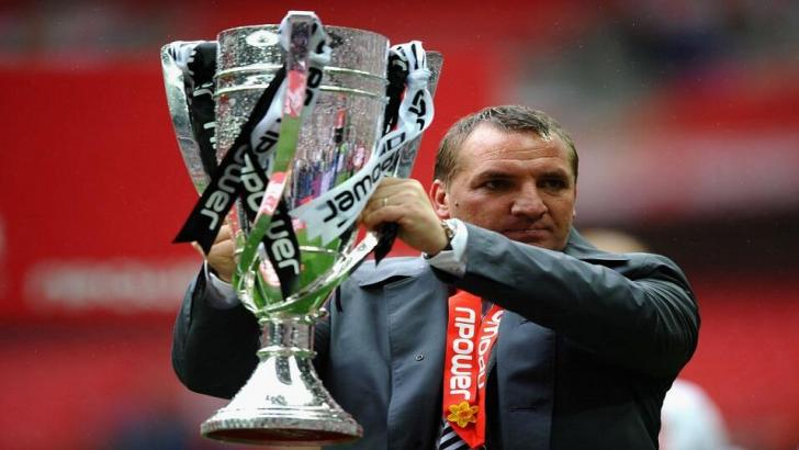 Brendan Rodgers wins the Championship play-offs with Swansea