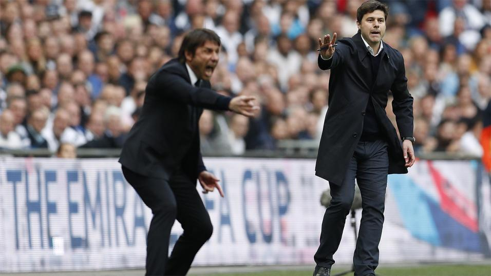Real Madrid and Tottenham managers.