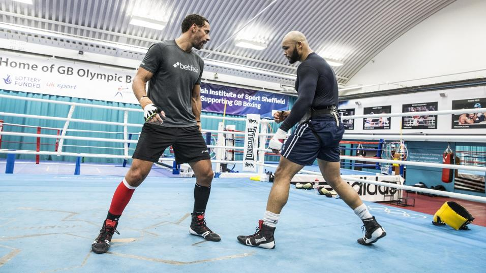 Rio taking tips from Team GB Boxing's Frazer Clarke in Sheffield