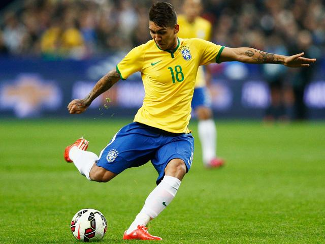 New Liverpool signing Roberto Firmino started the last two Brazil games at Copa America