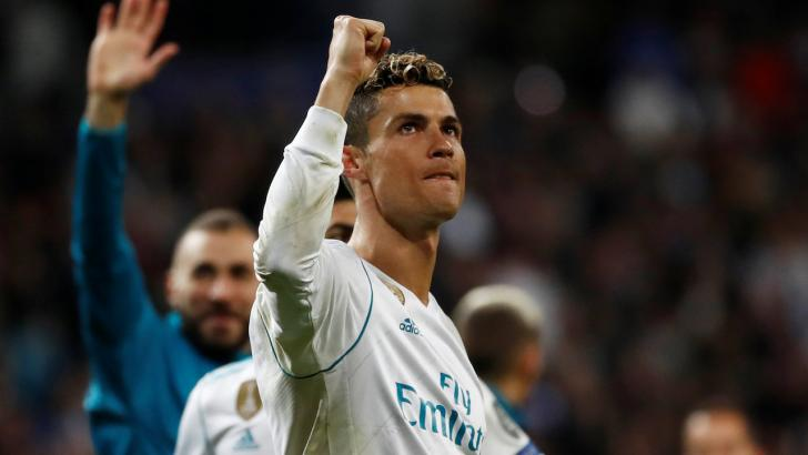 Cristiano Ronaldo celebrates with Real Madrid