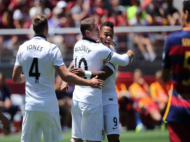 Wayne Rooney celebrates United's opener in the 3-1 over Barca - your punt of the week