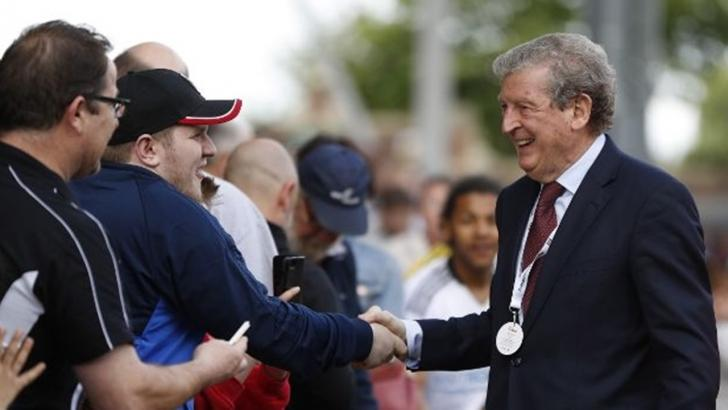 Will Roy Hodgson still be smiling after Crystal Palace's match with West Ham?