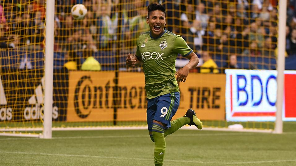 Seattle Sounders forward Raul Ruidiaz