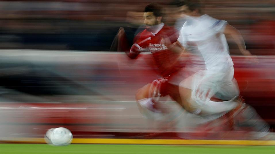 Blink and you'll miss him. Mo Salah combines lightning pace with deadly finishing.