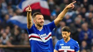 Sampdoria player celebrates goal