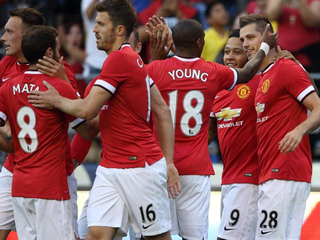 Morgan Schneiderlin wasn't kept waiting long for his first goal in Man United colours