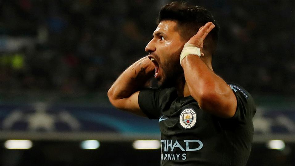 Aguero has scored 13 times in 2018 to take him within two league goals of Kane