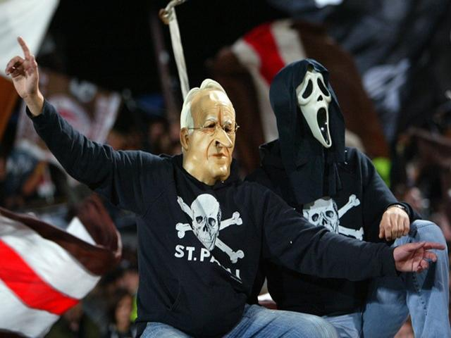The St Pauli fans don't mask their beliefs