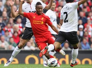 Raheem Sterling gave Liverpool the lead at White Hart Lane