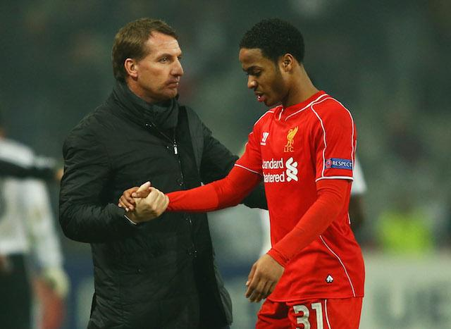 Brendan Rodgers is likely to use Raheem Sterling in a wide role