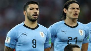 Uruguay strikers - Luis Suarez and Edinson Cavani