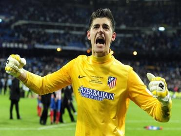 Lisbon lion: Thibaut Courtois could once more be the star of the Atletico Madrid show