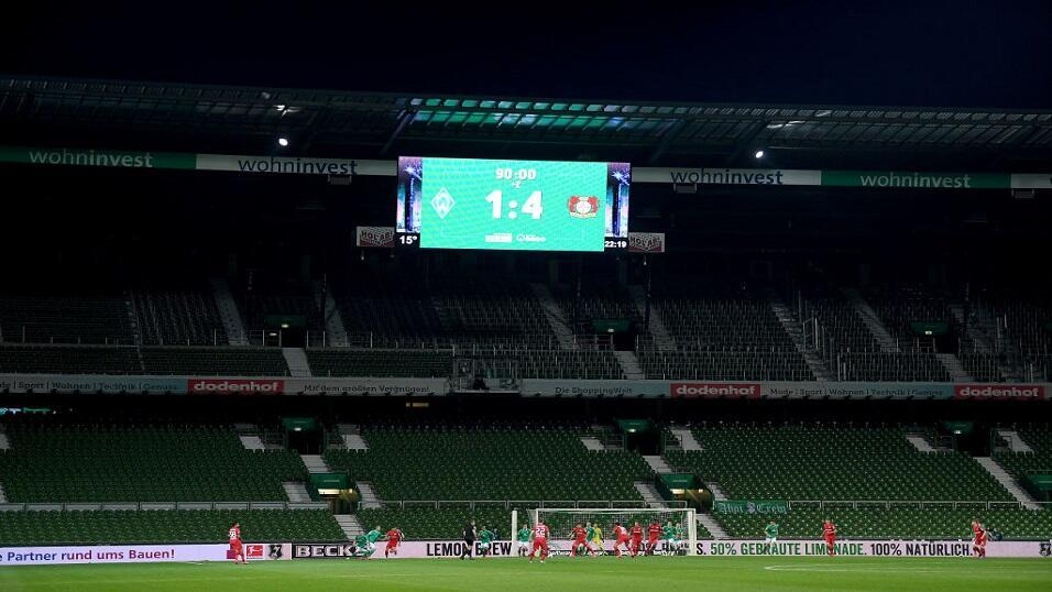 Werder Bremen playing Bayer Leverkusen